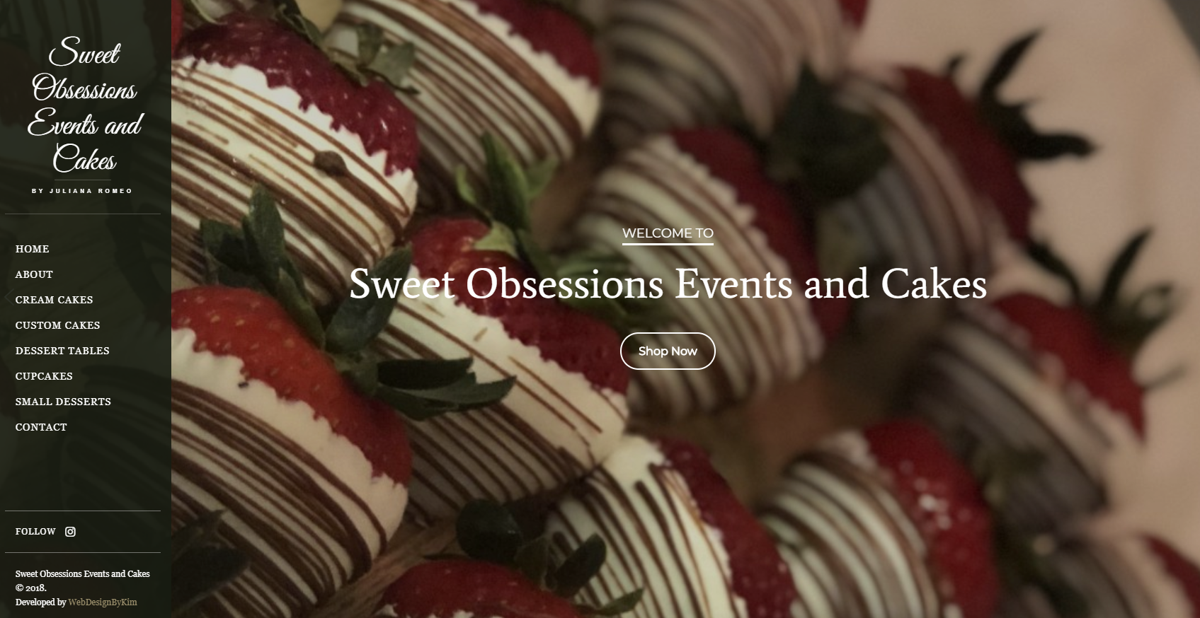Sweet Obsessions Events and Cakes Website