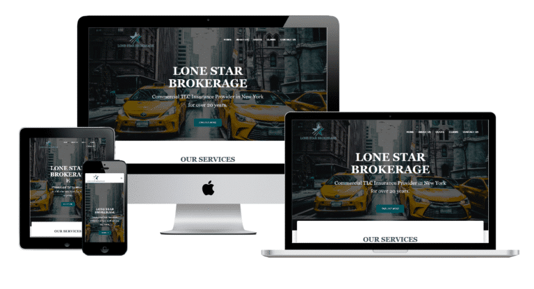 Lone Star Brokerage Multi devices website view