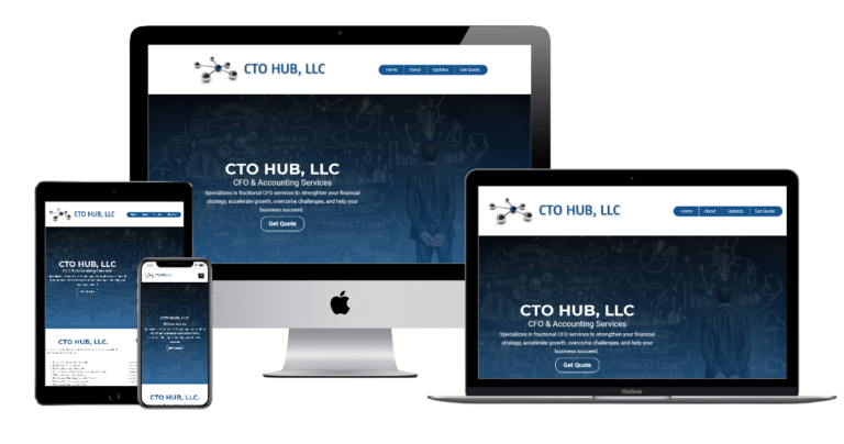 CTO HUB Multi Devices Website view