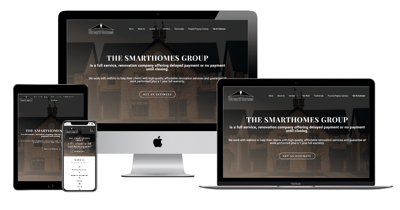 The Smart Homes Group Website Multiple Devices view