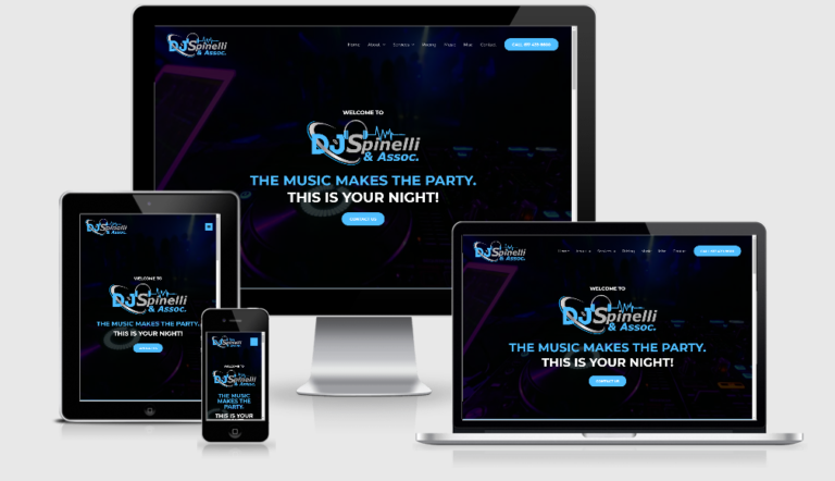 DJ Spinelli Website Multiple Devices view