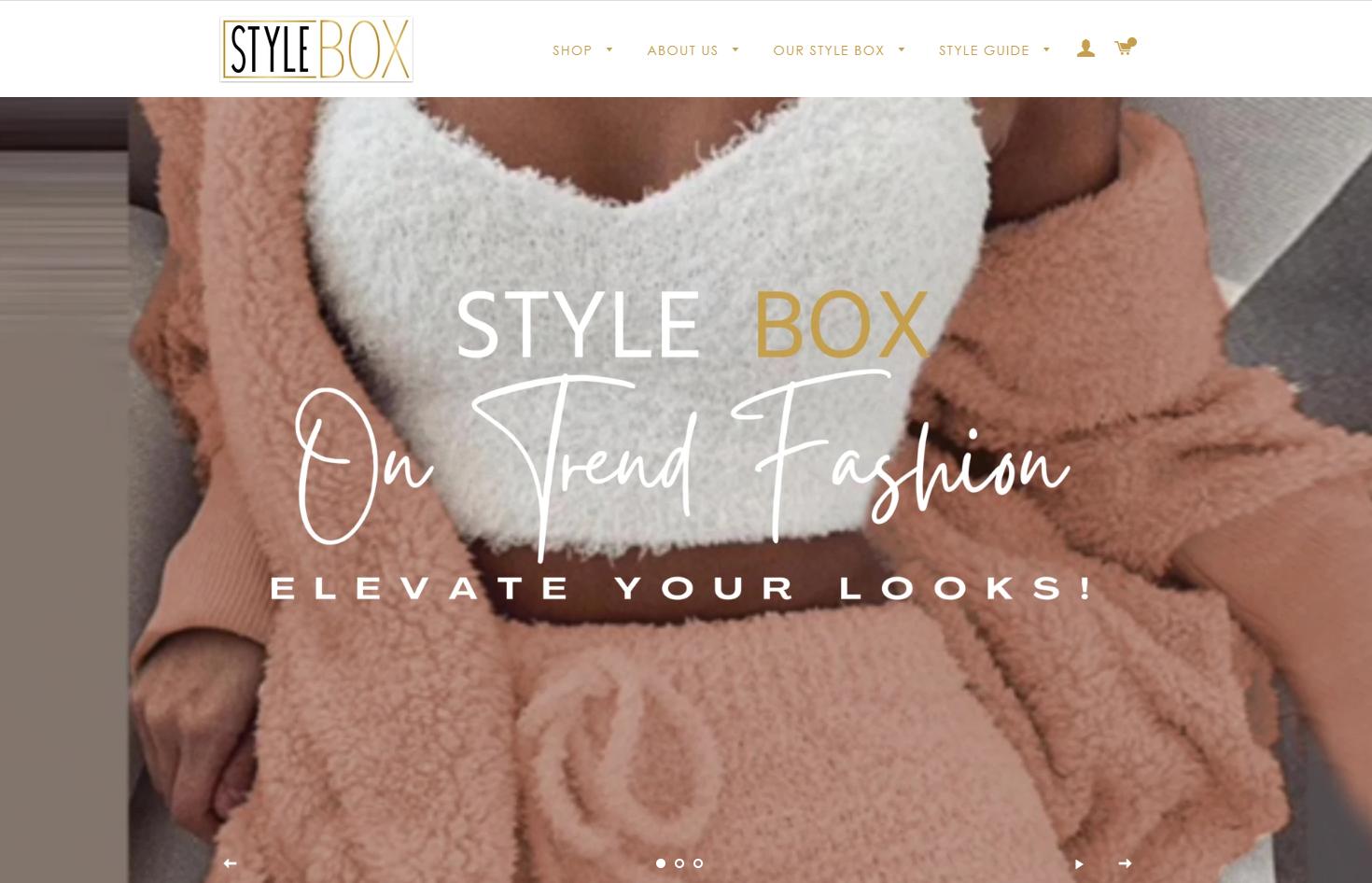 Style Box Website Homepage