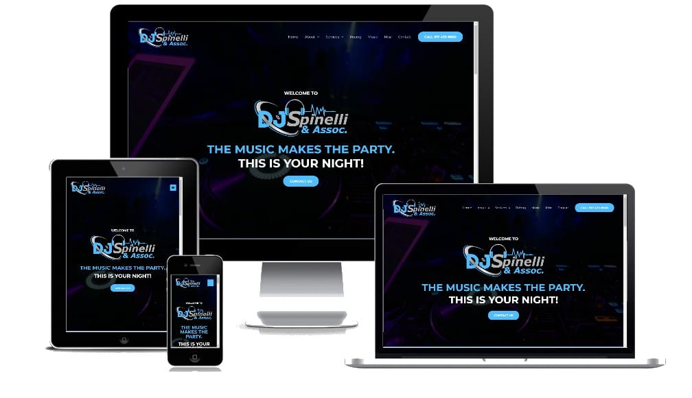 DJ Spinelli Website Multi device View