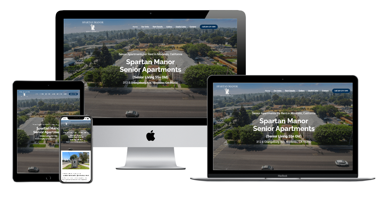 Spartan Manor Website Multi Devices View