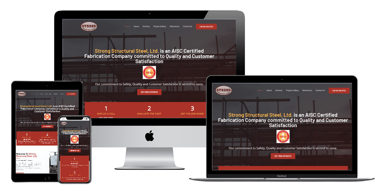 Strong Structural Steel Website Multi Devices view