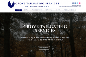 Grove Tailgating Services Website