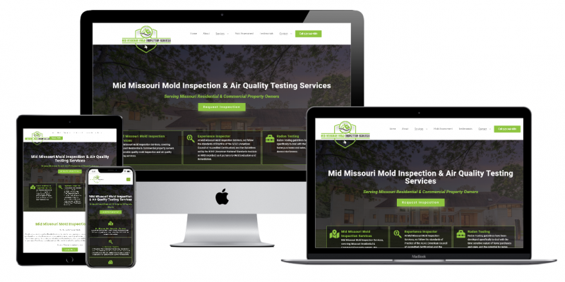 Mid Missouri Mold Inspection Services Website Multiple Devices view