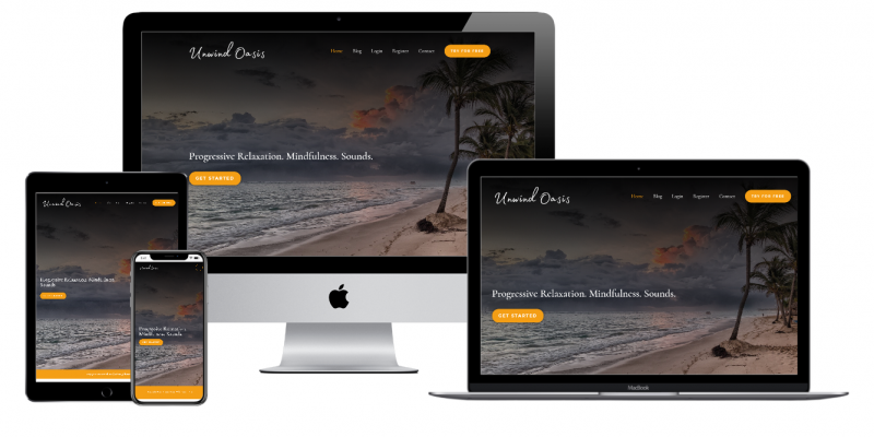 Unwind Oasis Website Multiple Devices view