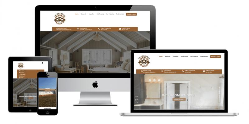 J. M. Habitzruther Multi devices website view