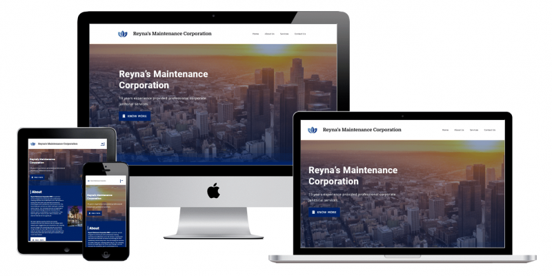 Multi devices reynascorp website view